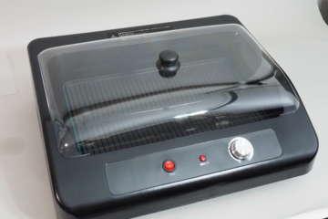 専用の透明カバーが付属しており、煙りや熱を閉じ込めることができる。