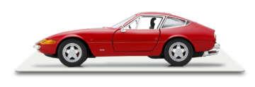 365GTB4/「デイトナ」の愛称で知られるフロントエンジンのグランツーリズモ。70年代初頭のル・マン24時間耐久レースでの連続優勝など、輝かしいレーシングヒストリーも有している。