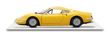 ディーノ/エンツォの亡き息子の愛称を車名とした小型スポーツカー。246GTは1969年から製造された後期モデルで、2.4リッターV6エンジンを運転席の背後にマウントしている。