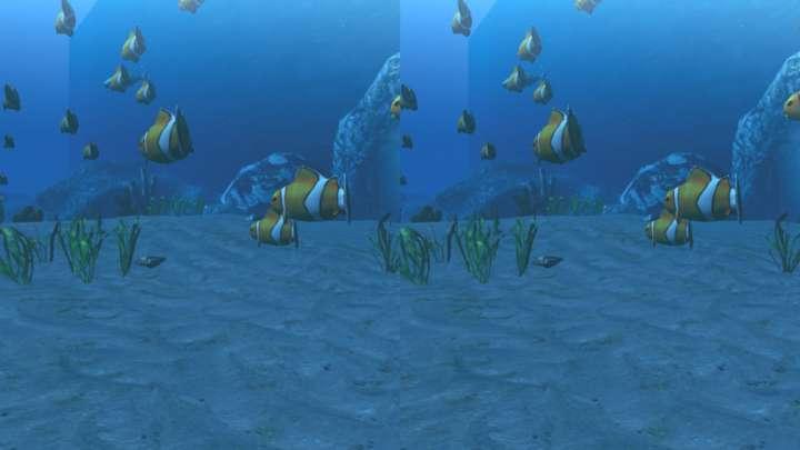 【BotsNew Diver】ダイバーとなって海を泳ぐゲーム。両手で平泳ぎのような動きをすることで前に進む。どんな魚がいるのか、のんびり探してみては?
