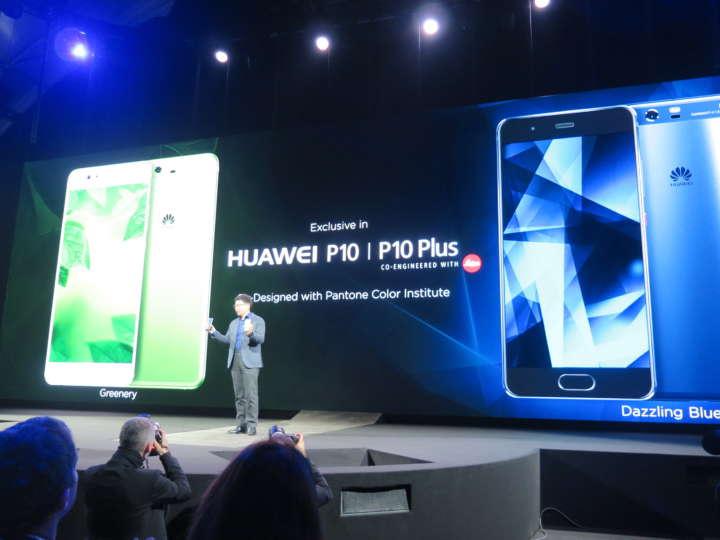 HUAWEI P10は5.2インチのフルHDディスプレイ、HUAWEI P10 Plusは5.5インチの2Kディスプレイを搭載
