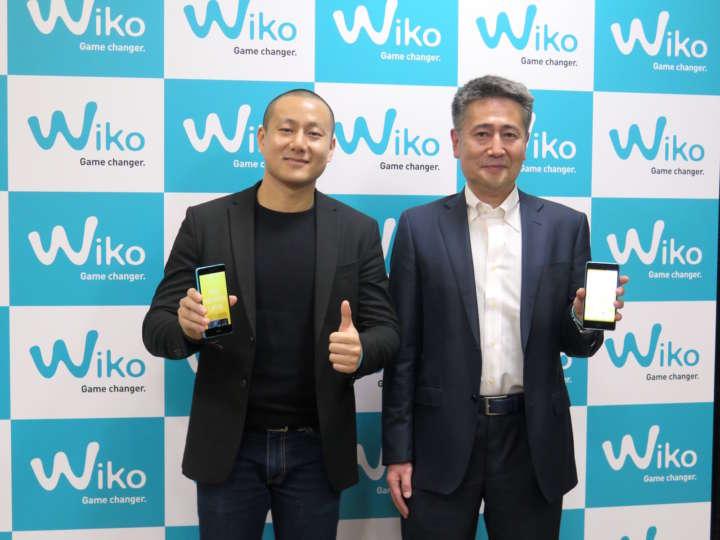 右がWiko Japanの代表取締役社長 前田浩史氏。左はWiko Asia Hubのプロダクトマネジャー ステファン・フェン氏