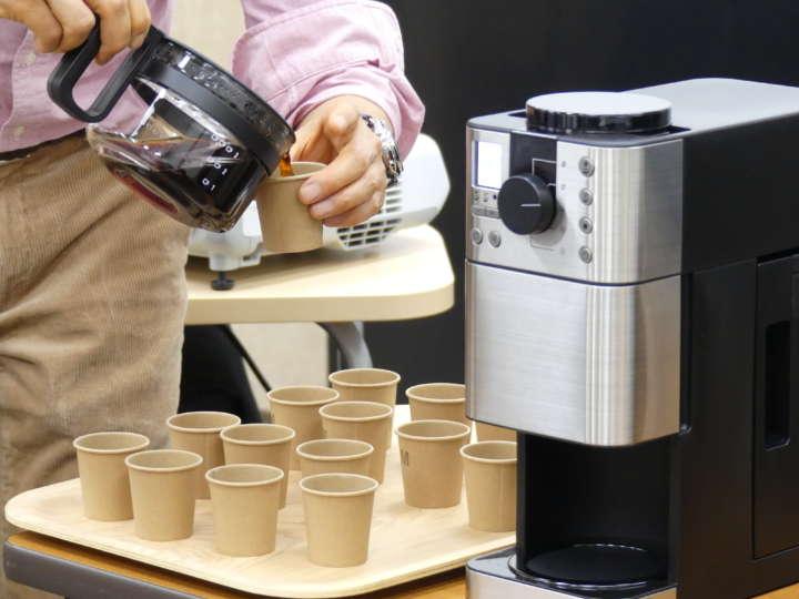 豆から挽けるコーヒーメーカーのフラットカッターミル