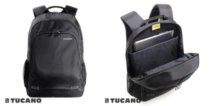 ▲「TUCANO FORTE リュックサック/バックパック」(9612円)カラー:ブラック、カーキ サイズ:32×47×18cm シンプルなバックパック。背面部にはキャリーサポーター付き。15.6インチのノートPCを収納可能。