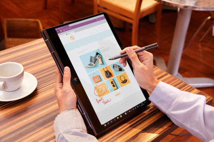 ▲アクティブペン同梱モデルにはHP Pen Controlソフトがプリインストールされており、ペンにあるボタンの動作割り当てを個別設定可能。右クリック、消去、音量上げ/下げなど23種類の機能の中から選択できる