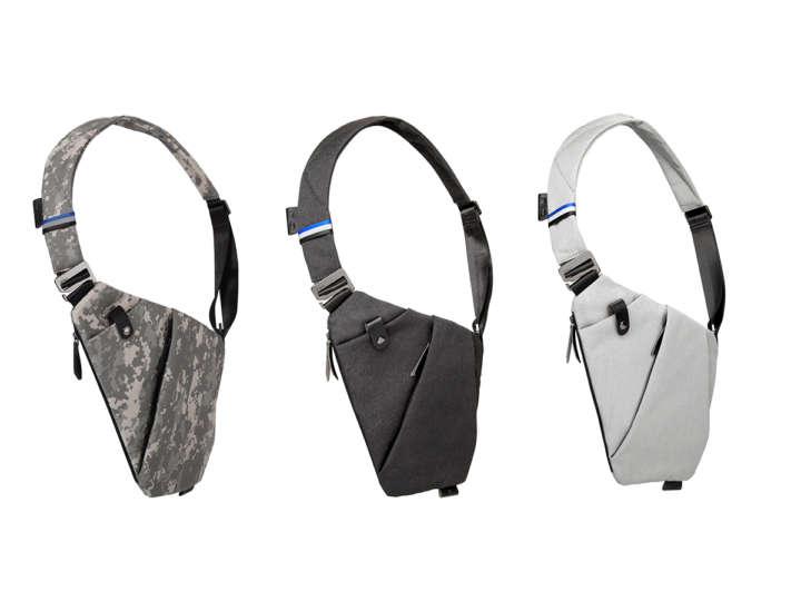 体にフィットするチェストバッグ「FINOII」は、薄さ2.5cmで、重さはわずか270g。「初代FINO」発売時はクラウドファンディング2800万円を集め、1年かけてリニューアル  ...
