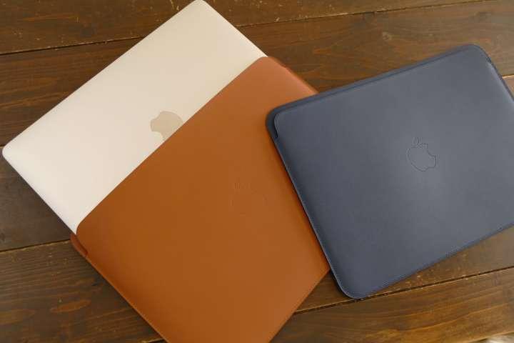 12インチMacBookの純正本革ケー...