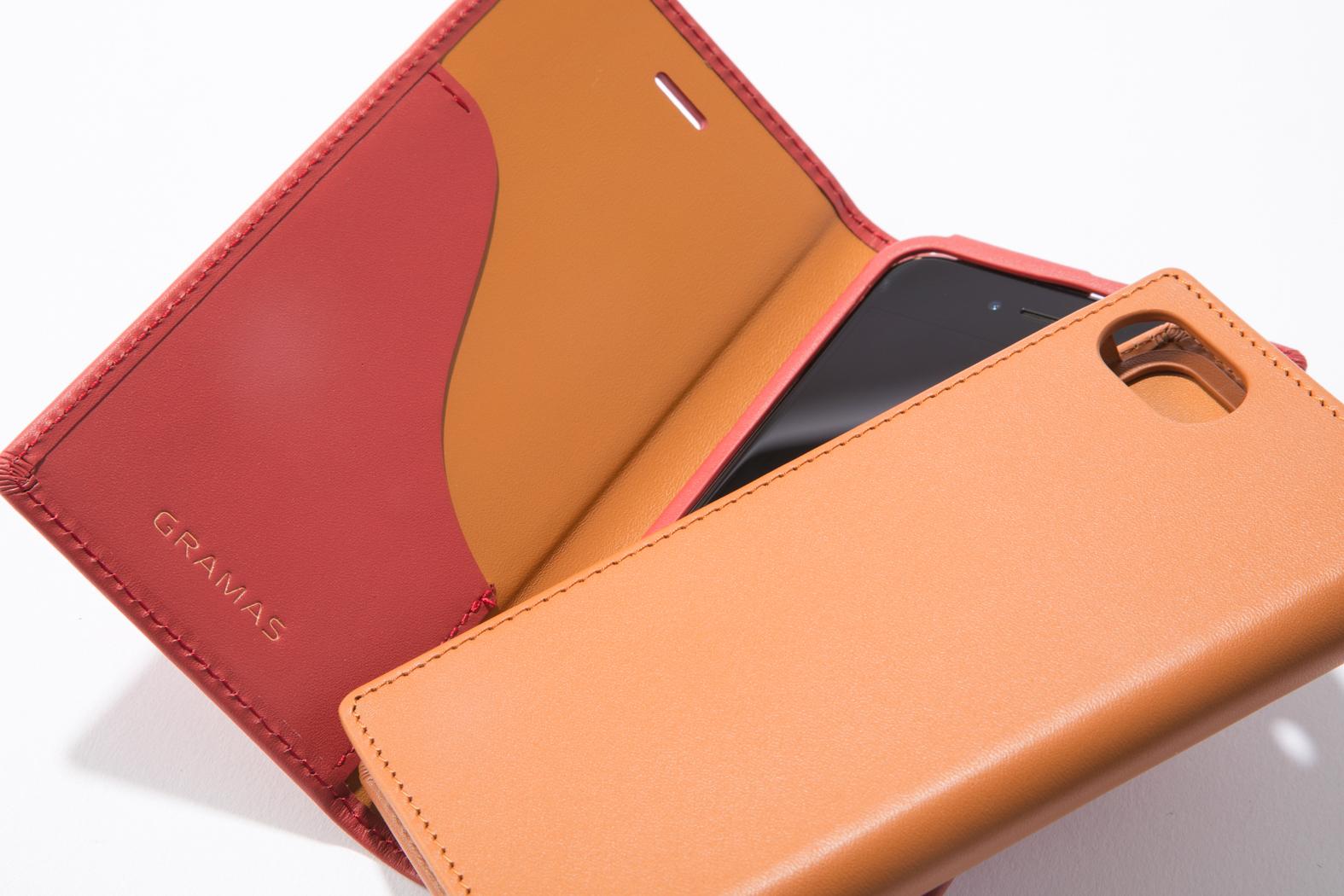 05115a3a45 レザーケースブランドとして人気の高い「GRAMAS(グラマス)」。本品は表地と裏地のすべてに本革(牛皮革)を用いた手帳型レザーケース。1枚の皮から製作することで  ...