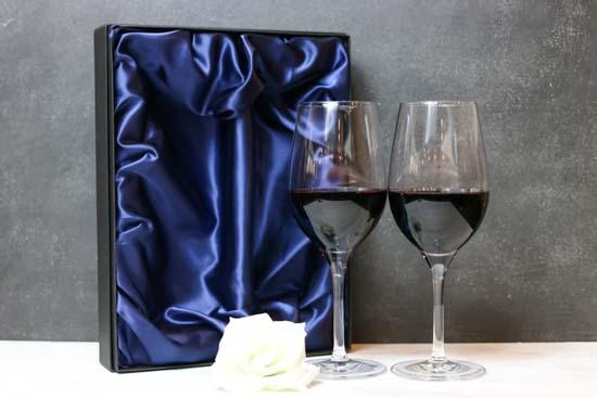 【名入れギフト】ペア クリスタルワイングラス