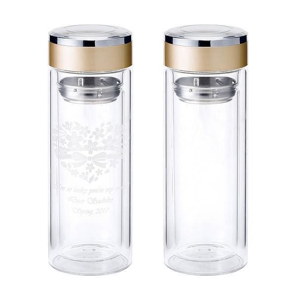 ダブルウォール ガラスマグボトルペア