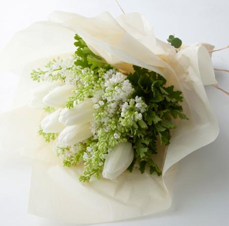 おまかせブーケ(ホワイト×グリーン)