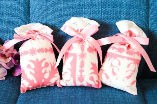 3個セットサッシェ(香り袋)ローズ