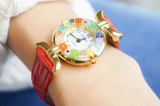 ヴェネチアングラス時計