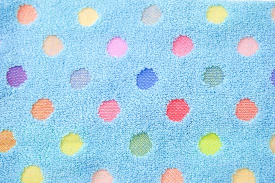 ポップカラー:フェイスタオル ホワイト&ブルー