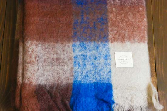 ACRYL WOOL THROW 75cm×160cm