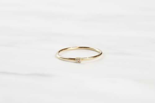 K10 Tiny Motif Diamond Ring