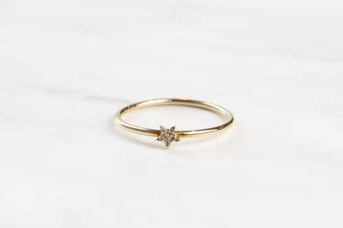 K10 Tiny Motif Diamond Ring