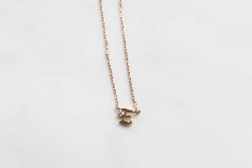 K10 Tiny Initial Diamond Necklace