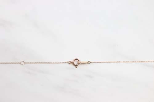 K10 Tiny Initial Diamond Necklace