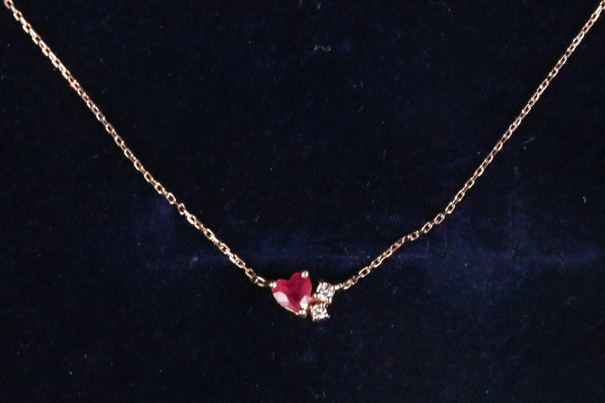K10 Ruby Diamond Necklace