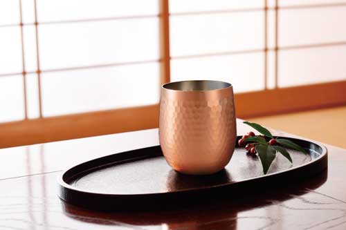 食楽工房 純銅ロックカップ2PCセット 桐箱入【ギフト・贈答品】