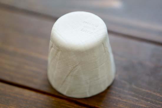 ceramic mimic fabric 片口&グラス セット
