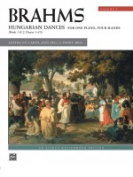Brahms: Hungarian Dances, for one piano, four hands, Volume 1