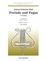 Prelude and Fugue In D Minor for Saxophone Quartet