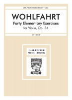 Forty Elementary Exercises for Violin, Op.54