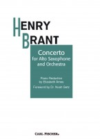 Concerto for Alto Sax and Orchestra Piano Reduction by Elizabeth Ames - Foreword by Dr. Noah Getz