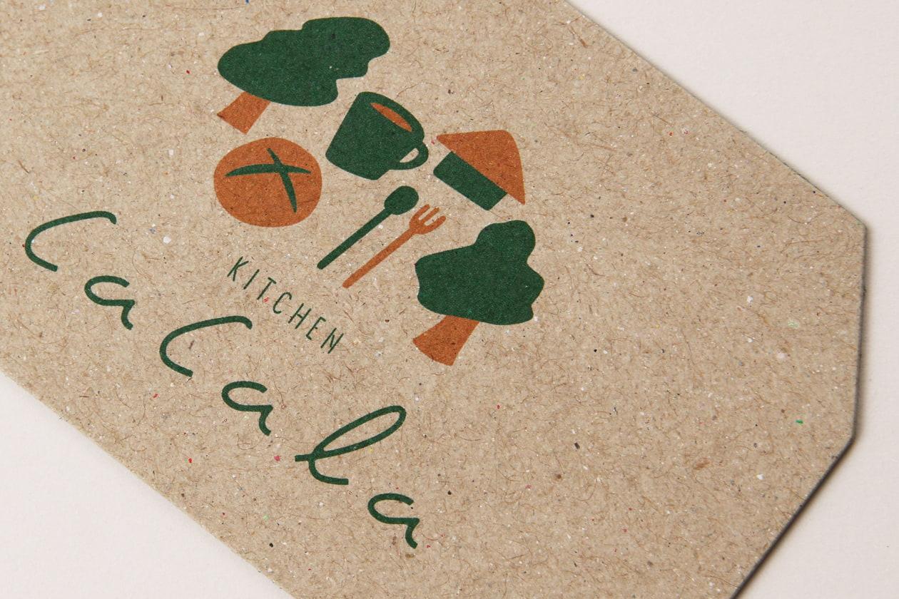 自然派パン屋の印刷物