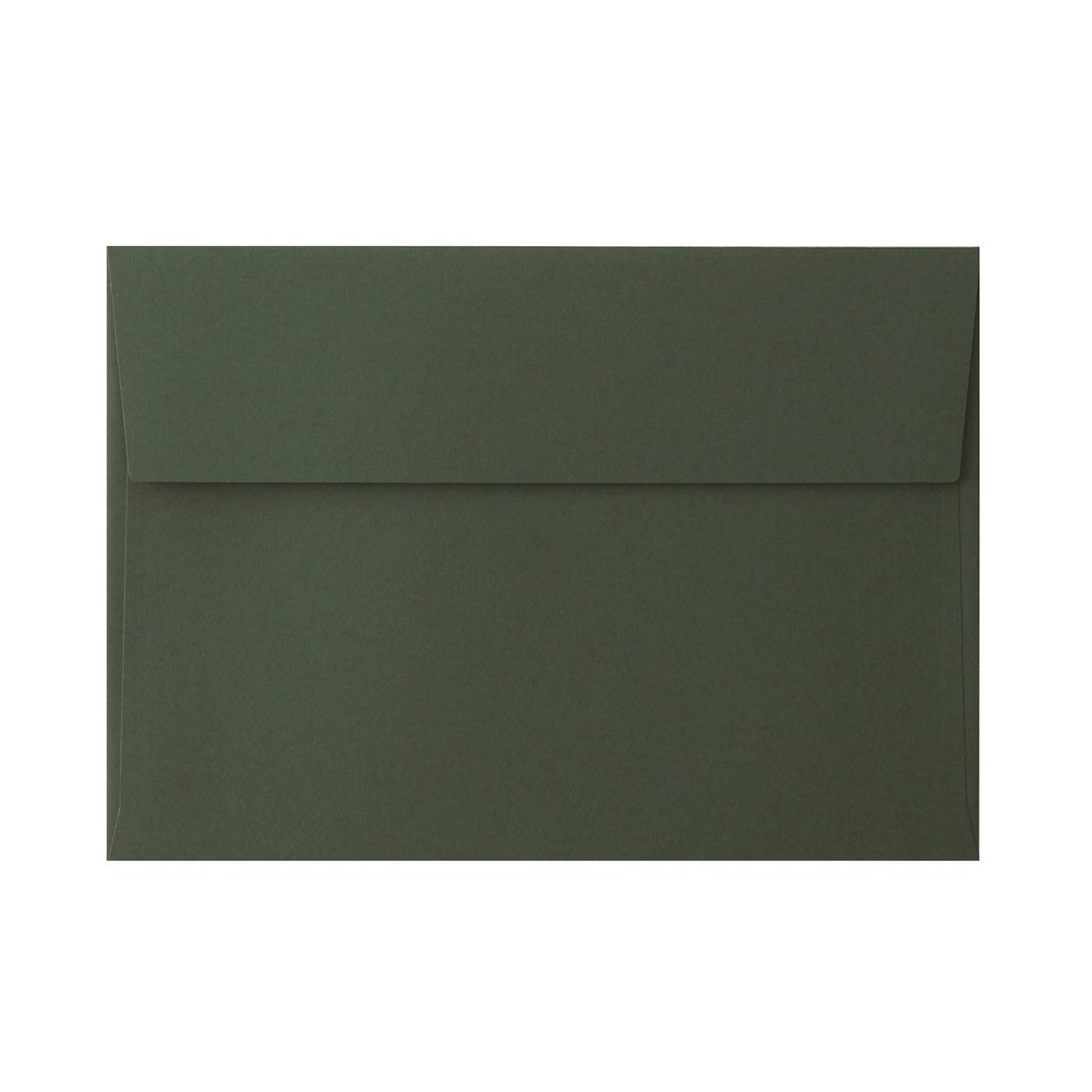 角6カマス封筒 コットン ボトルグリーン 116.3g