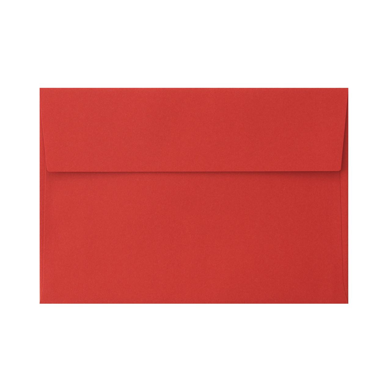 角6カマス封筒 コットン レッド 116.3g