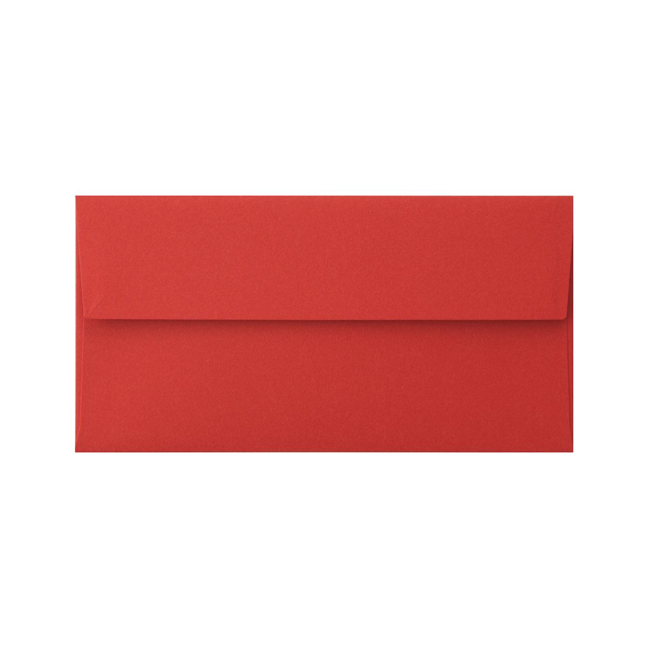 洋6カマス封筒 コットン レッド 116.3g