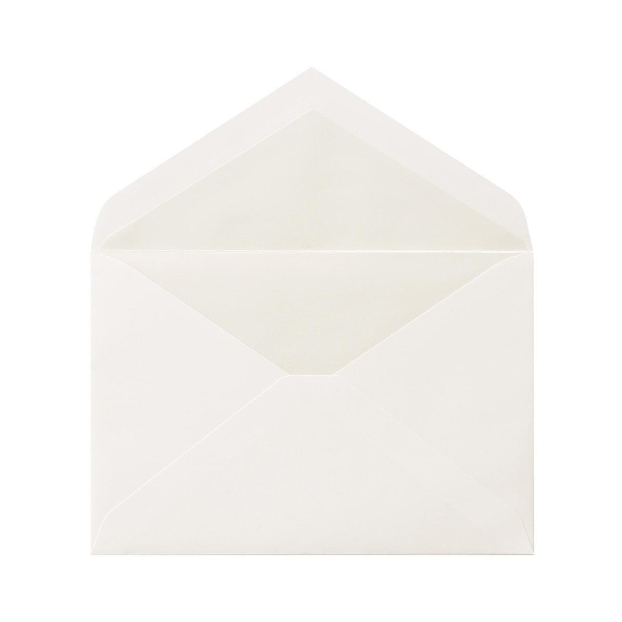 洋1ダイア二重封筒 コットン スノーホワイト パール 116.3g