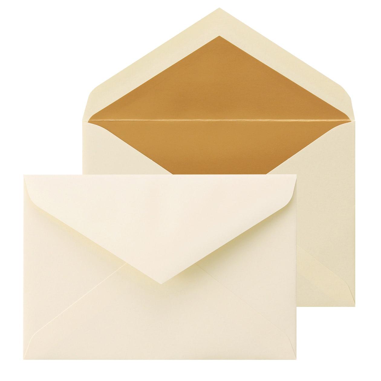 洋1ダイア二重封筒 コットン ナチュラル ゴールド 116.3g
