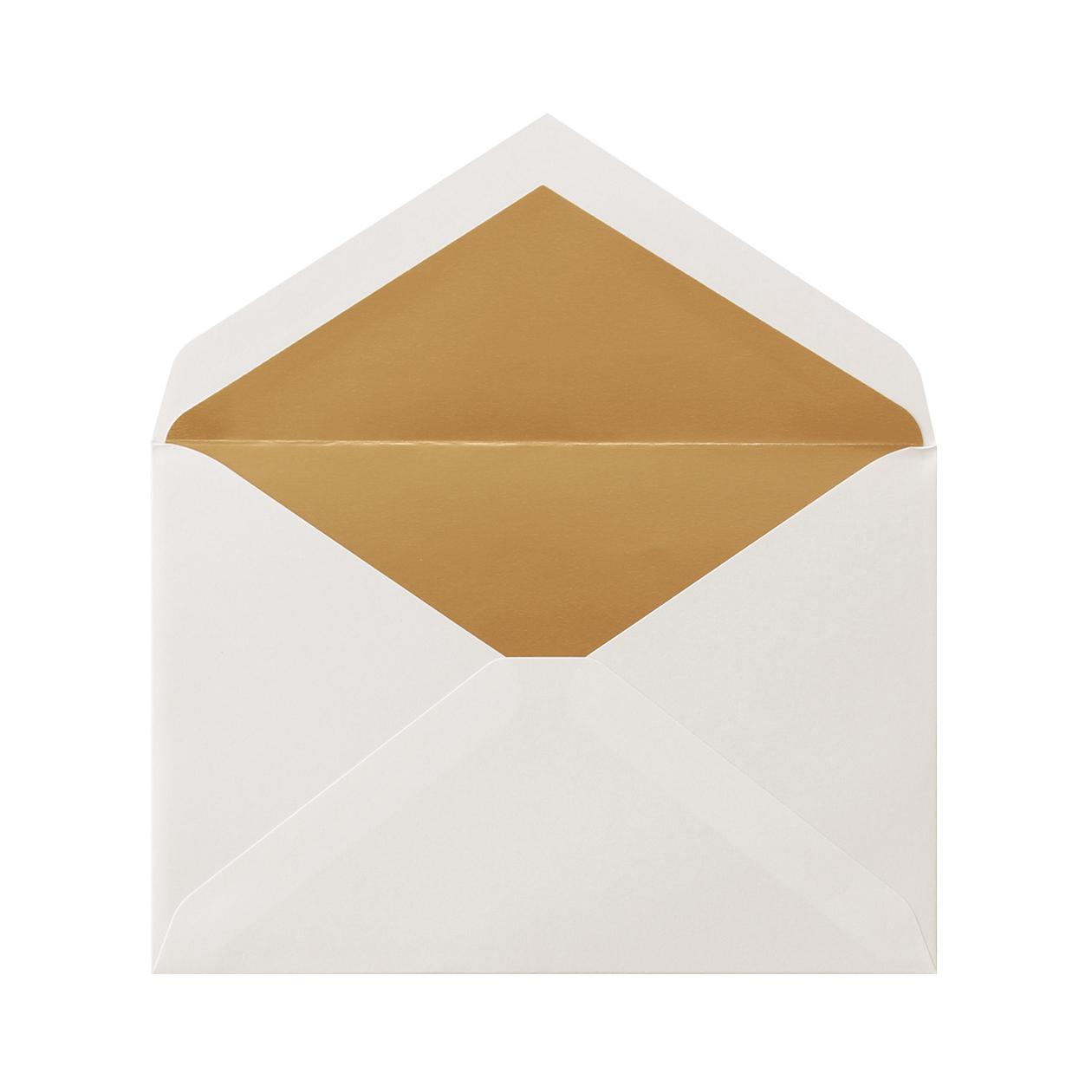 洋1ダイア二重封筒 コットン スノーホワイト ゴールド 116.3g