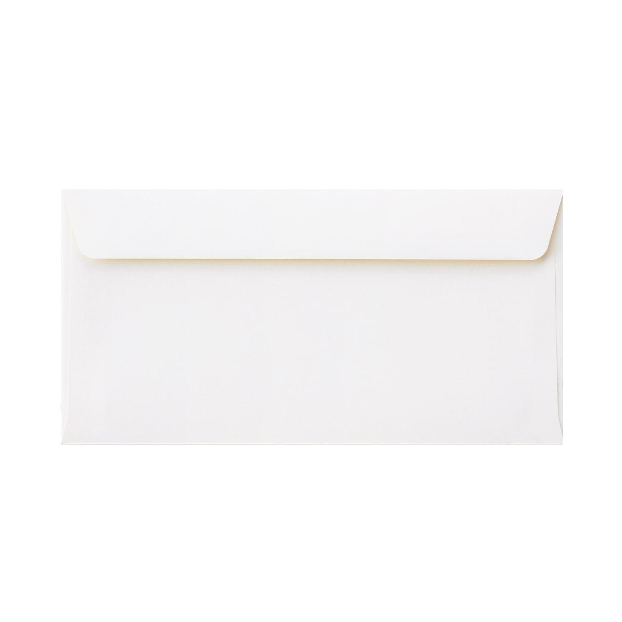 長3カマス34封筒 コットン スノーホワイト 116.3g
