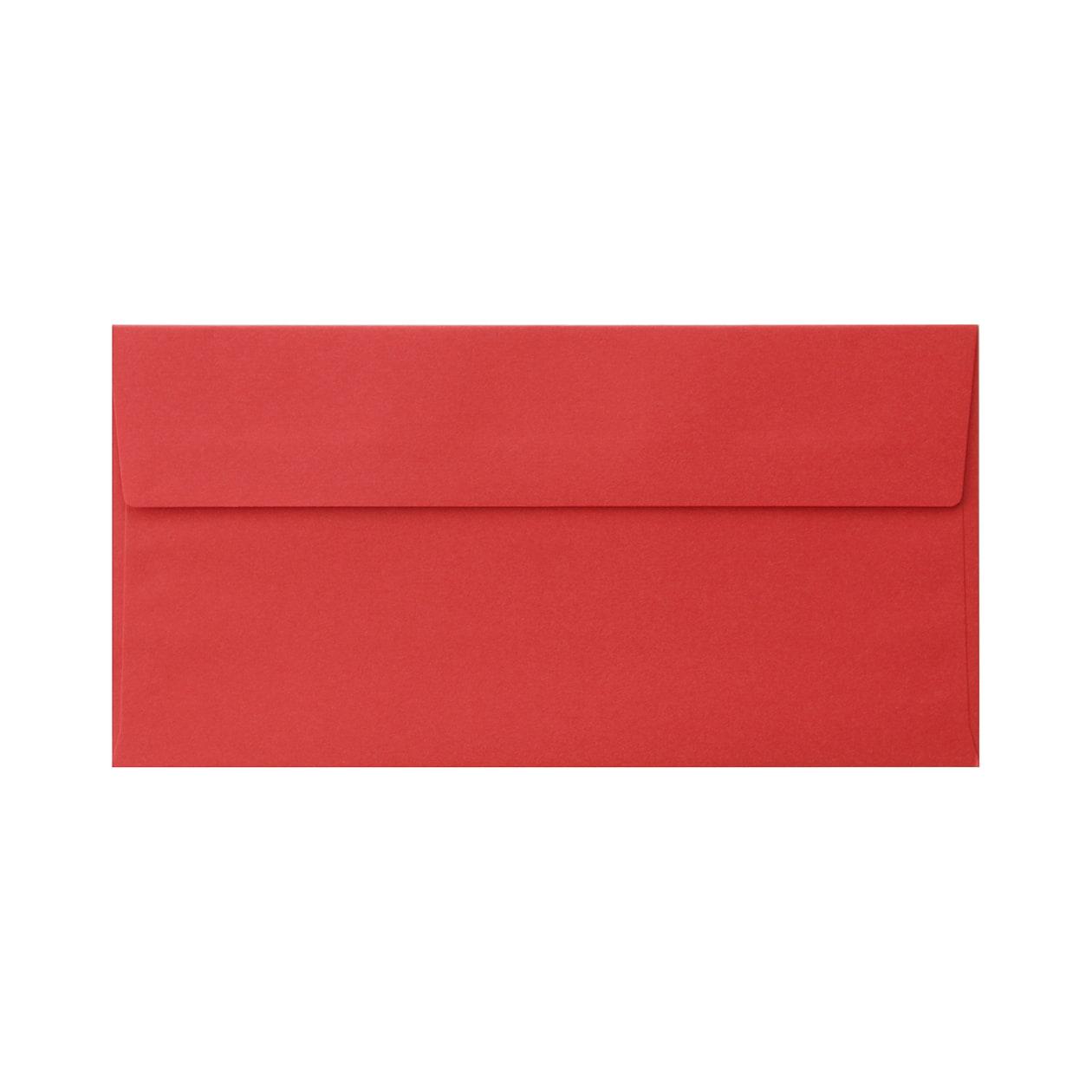 長3カマス封筒 コットン レッド 116.3g