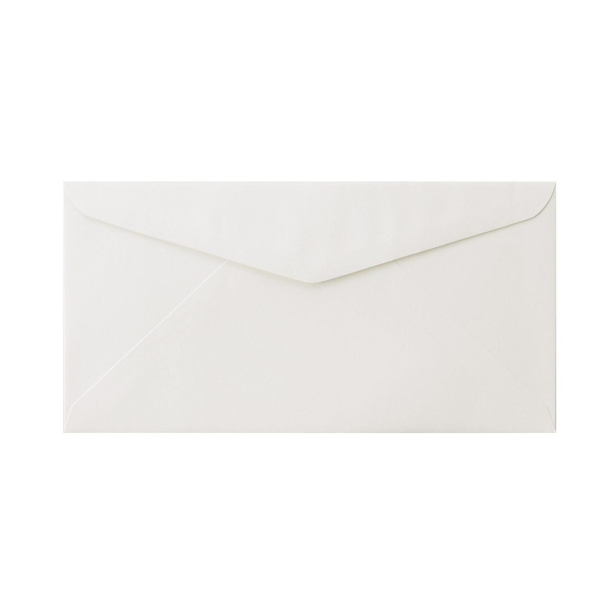 長3ダイア封筒 コットン スノーホワイト 116.3g