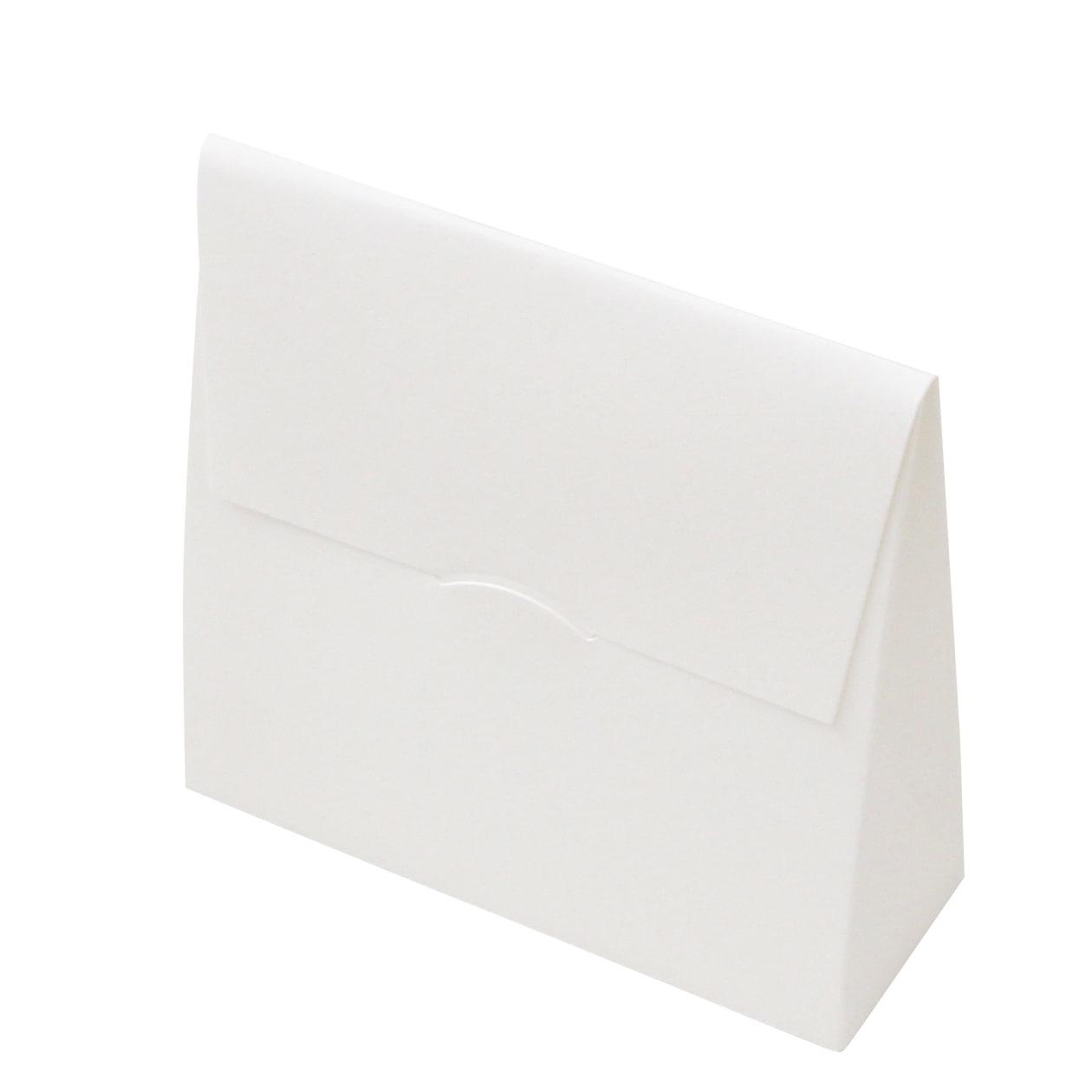 角底箱ロック式90×90×30 窓付 コットン スノーホワイト 232.8g