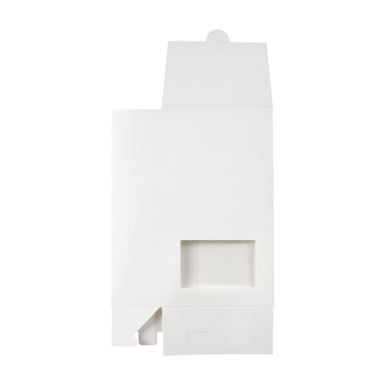 角底箱ロック式90×160×40 窓付 コットン スノーホワイト 232.8g