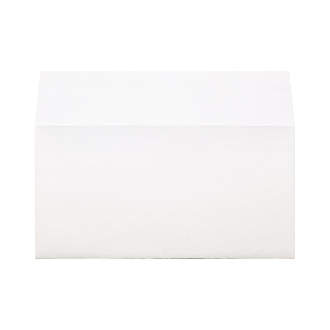 長3カマス封筒(フタ立て) コットン スノーホワイト 116.3g