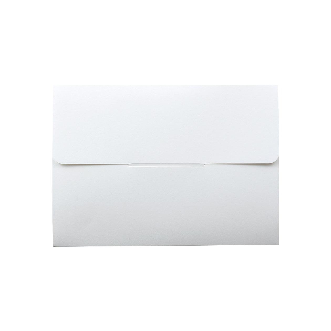 封筒型フォルダーA5用 差込有 コットン スノーホワイト 232.8g マチ6mm