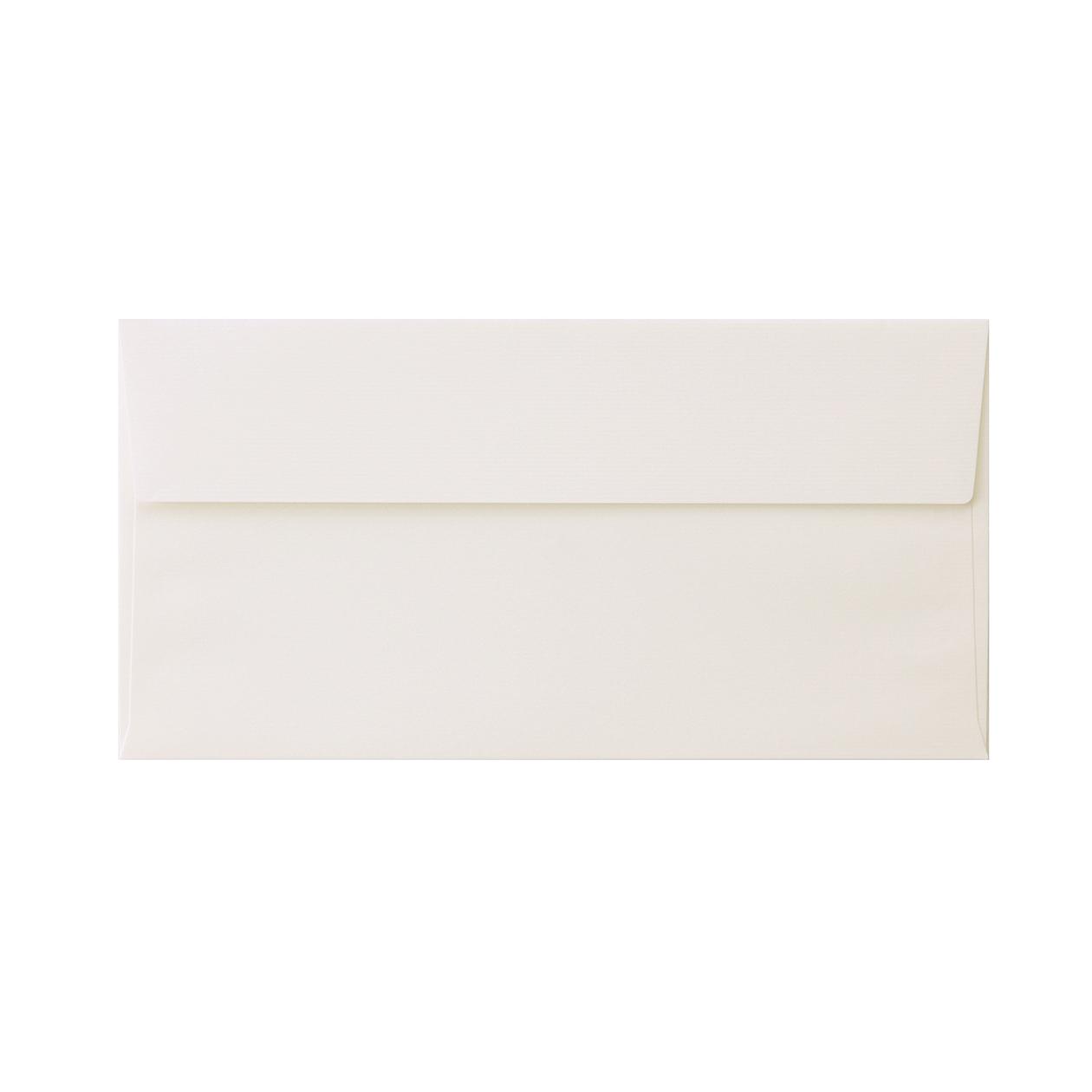 長3カマス封筒 コットンレイド スノーホワイト 116.3g