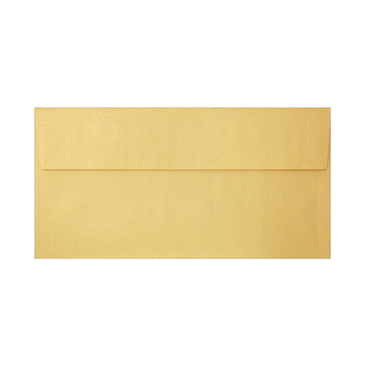 長3カマス封筒 上質カラー ゴールド 97.4g