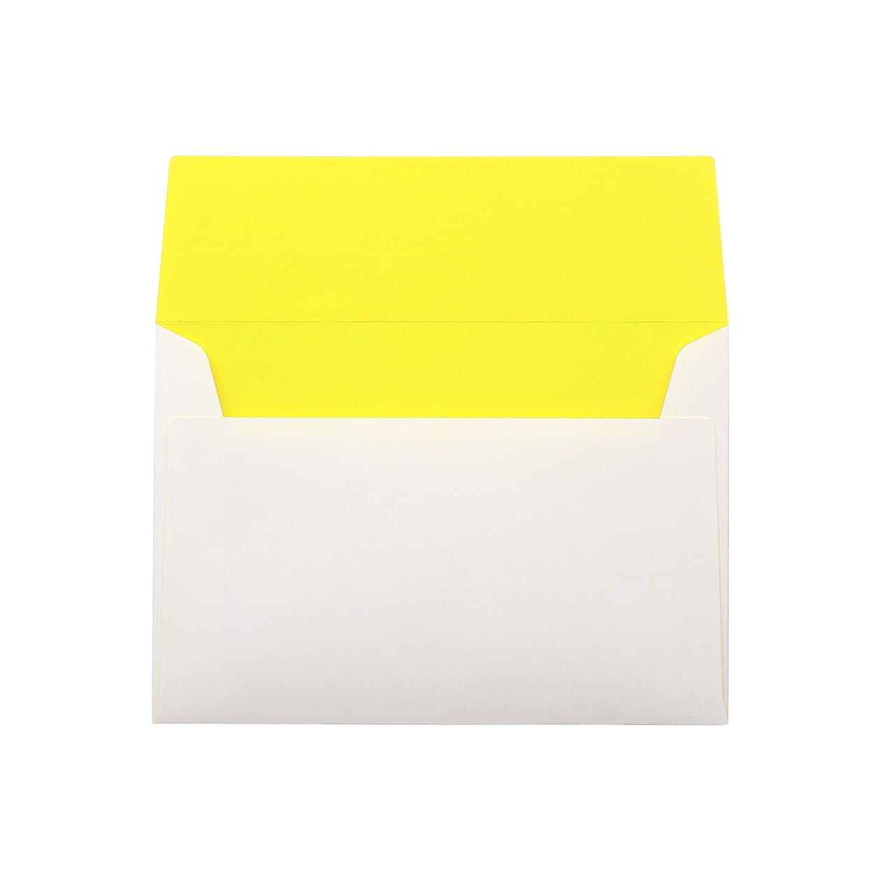 洋2カマス封筒 フラッシュカラー ホワイト×イエロー 100g