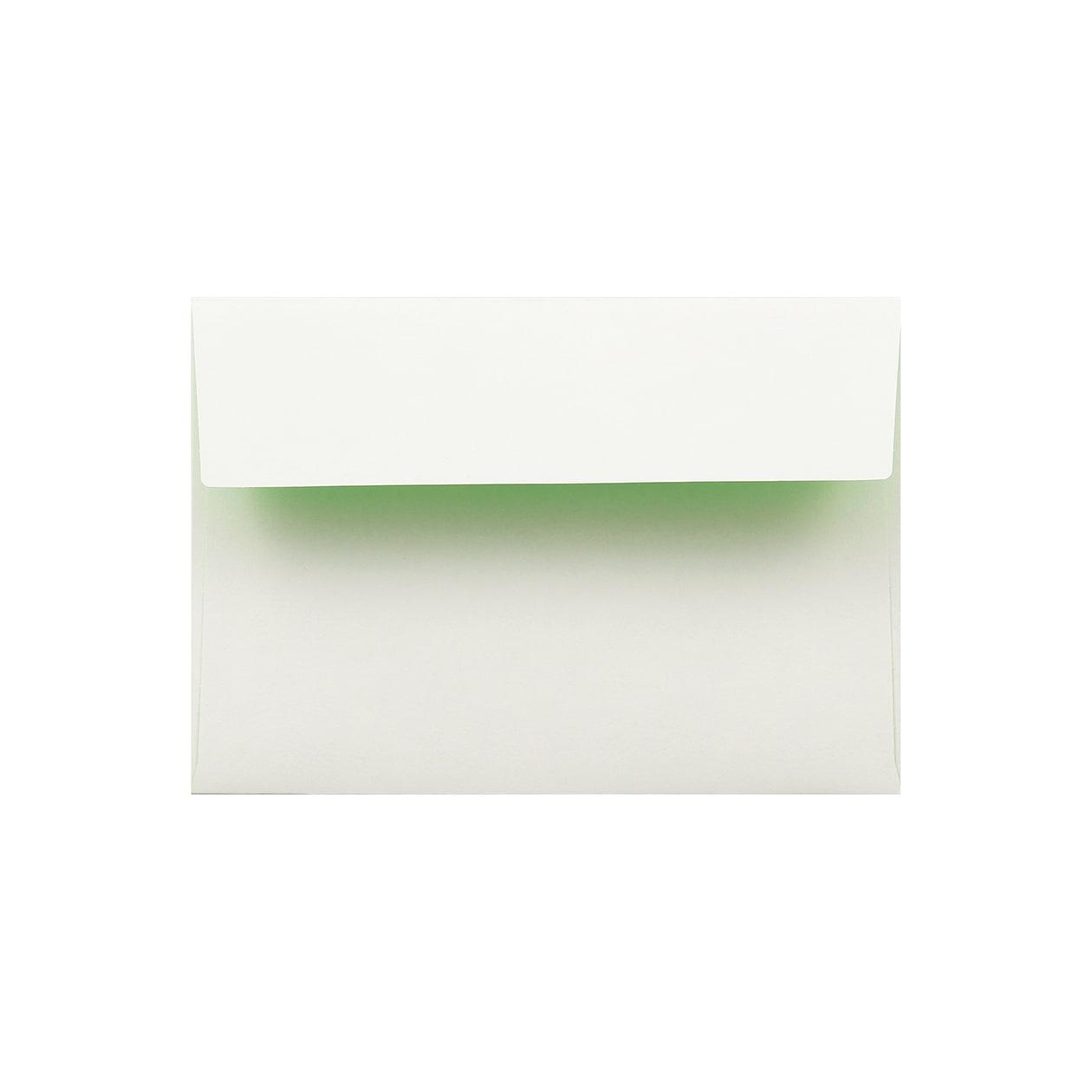 洋2カマス封筒 フラッシュカラー ホワイト×キミドリ 100g