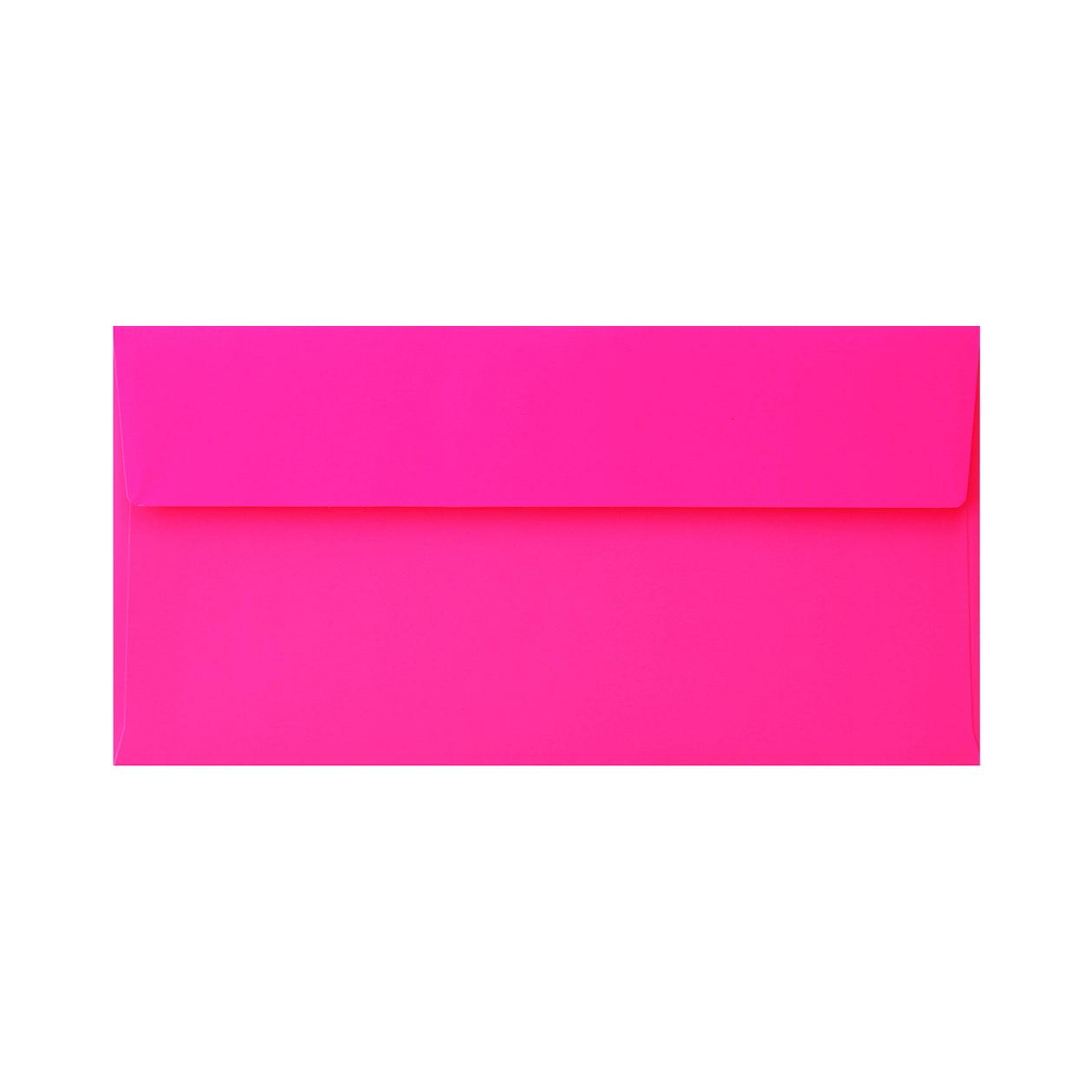 長3カマス封筒 フラッシュカラー ピンク 104.7g