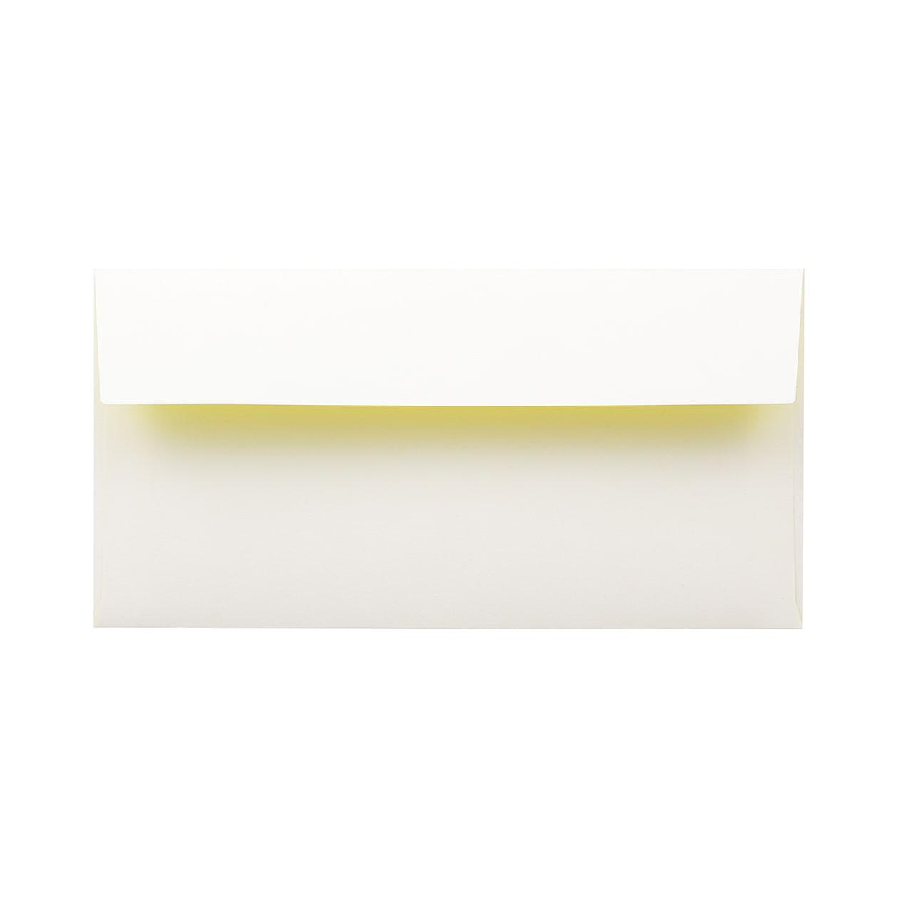 長3カマス封筒 フラッシュカラー ホワイト×イエロー 100g